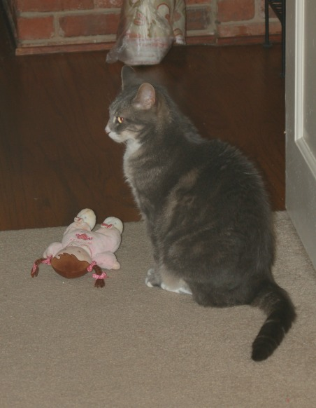 Simon with Doll-Blog 12-1-2011
